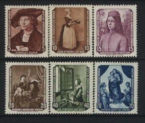 GERMANY, DDR MNH Scott # 272-77, DURER, LOTARD, GREAT MASTERS, PAINT VAL.$ 22.45