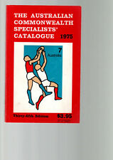 THE AUSTRALIAN COMMONWEALTH SPECIALISTS' STAMP CATALOGUE 1975 Australia C