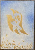 Judaica Religion Philatélie Tableau Symbolisme Colombe Huile de Robert Abrami