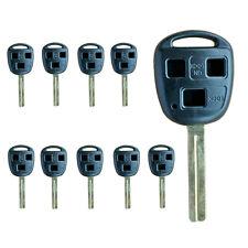 Lot30 Uncut Remote Key Shell fit for Lexus RX/ES330 GX/LX470 3Bts key Case 03-06