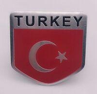 Sticker Aufkleber Emblem Türkei Turkey Auto Metall selbstklebend Wappen 3D TUR