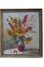 Großes Stilleben mit Sonnenblumen, signiert O.Gutzeit - H.Sagert & Co., Berlin