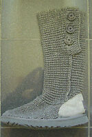 UGG AUSTRALIA CLASSIC CARDY GREY WOOL BOOTS WITH BUTTONS UK SIZE 6.5