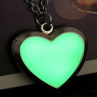 Charm Heart Love Glow In The Dark Magic Locket Pendant Necklace Luminous Women