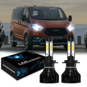 2× H7 55w 6000k LED Lampen Birnen Scheinwerfer Kit Abblendlicht für FORD TOURNEO