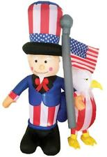 6 Ft July 4Th Inflatable Lighted Uncle Sam Eagle Outdoor Decor Patriotic Yard