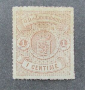 nystamps Luxembourg Stamp # 17 Mint OG H $35 Appears   U11y572