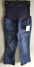 NEW $54 Aglow Women's SIZE 2 Maternity Denim Capri Pants Cropped Jeans #57818