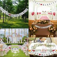 Just Married Flag Wedding Banner Party Bunting Banners Decoration Garden Outdoor