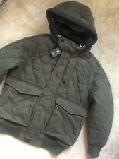"G-STAR RAW ASFALT ""EXPEDIC QUILTED"" PADDED BOMBER JACKET COAT - MEDIUM  NEW TAGS"