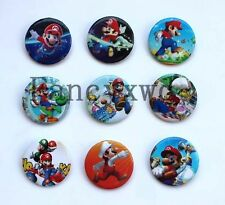 Super Mario Badge Button Pin 3cm Party Gifts Kid's Prizes 48pcs  B305