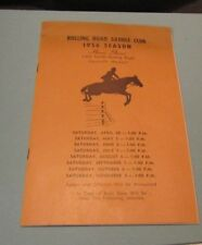 1956 Rolling Road Saddle Club Horse Show Schedule and Ads Catonsville Maryland