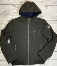 NWT Tommy Hilfiger Black Hooded Zip Jacket Mens M