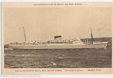 Union Castle Royal Mail Motor Vessel Athlone Castle Shipping Postcard, B436