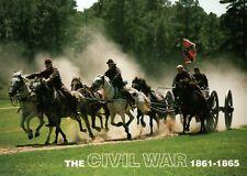 Confederate Soldiers on Horseback Civil War Military US History Horse - Postcard