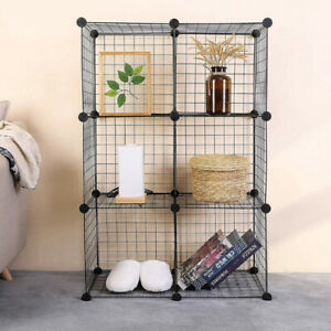 6 Cube Metal Cube Storage Unit Bookcase Cabinet Organiser Display Toys Shelving