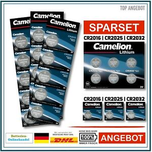 Camelion Knopfzelle CR2016 l CR2025 l CR2032 I CR2430 I CR2450 Batterie AUSWAHL!