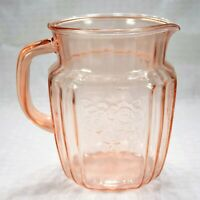 Anchor Hocking Mayfair (Open Rose) Pink 37-Ounce Pitcher (Height: 5-3/4 Inches)