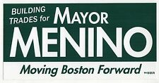 THOMAS TOM MENINO Boston Mayor MASSACHUSETTS Political BUMPER STICKER Mass MA