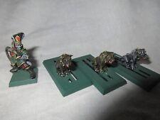 1990 Dark Elf ignorante Master & guerra Hounds Marauder Ejército caos gestor de perro