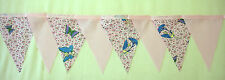 Butterflies and Fairies baby pink fabric bunting  2 mtr Lengths 8 Flags