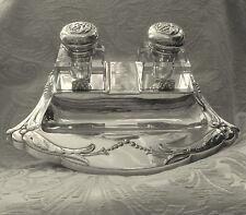 Calamaio Inkwell Danish Silver Plated DANA DFA Inkwell Art Nouveau Jugendstil