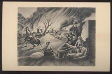 1940s Postcard Hyde Park Ny Post Office Mural #8 Dr Samuel Bard & Slave William