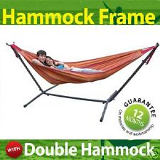 Brazilian DOUBLE Hammock + Steel Frame Stand +Carry Bag