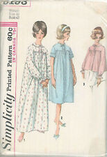 Vintage Uncut Nightgowns Sewing Pattern S5193 Size 40
