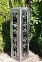 Säule Romantik blank   JH Metall Design kein Edelrost  Rost Lilie Ornament