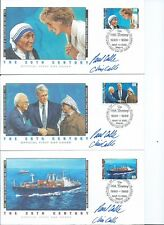 1990'S CELEBRATE THE 20TH CENTURY FDC'S, 15 COVERS, PRINCESS DIANA, GULF WAR