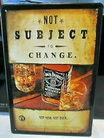 JACK DANIEL'S  WHISKEY: EMBOSSED(3D) metal  ADVERTISING SIGN 30x20cm NOT SUBJECT