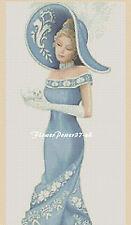 Cross stitch chart  Elegant Lady 156a Flowerpower37-uk.-.free uk P&p......