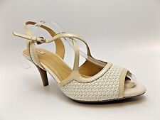 Geox Respira Shoes Symbol K Womens White Cream Leather Open Toe US 8.5 M  D3421
