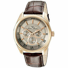 NEW Lucien Piccard Mens 10153-RG-014 Odessy Analog Display Quartz Brown Watch