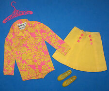 Vintage Francie Doll #1219 Somethin' Else Yellow & Pink Skirt Outfit 1969