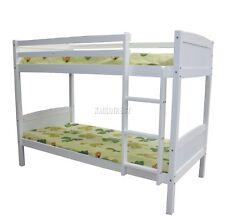 WestWood 3FT Wooden Frame Bunk Bed Children Sleeper No Mattress Single White