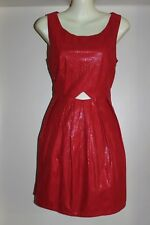 NWT SZ-10 VINTAGE STYLE RED FAUX SUEDE DRESS, CUT OUT BACK BY LOLITTA