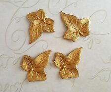 Small Raw Brass Ivy Leaf Stampings (4) - RAT6669