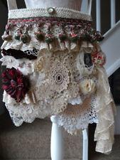Handmade Vintage lace Gypsy Boho Shabby Chic Cross Body Bag OOAK