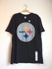 NFL TEAM APPAREL Men's STEELERS Sports Graphic Tee Shirt Black Top M