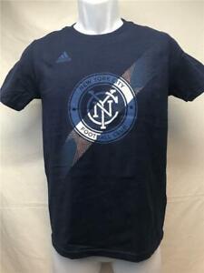 New-New York City Football Club Youth Size M Medium (10/12) Blue Adidas Shirt