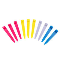 10 Pieces Durable Plastic Wedge Golf Tees 74mm Random Color Golfer Training