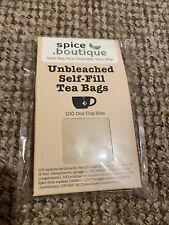 spice.boutique UNBLEACHED PAPER - Empty, PLASTIC FREE, Self Fill Tea Bags