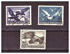 """ÖSTERREICH - AUSTRIA: 1950 & 1952 Mi: AT- 955, 956 & 968 """"Airmail - Birds"""" Used"""
