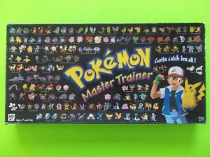 Pokémon Master Trainer Board Game 1999 Milton Bradley 100% Complete Catch Em All