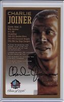Charlie Joiner Pro Football Hall of Fame Autographed Bronze Bust Card 100/150