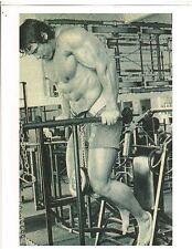 Arnold Schwarzenegger Parallel Dips World Gym Workout Bodybuilding Photo B&W #2