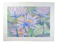 Huge Color Pastel Drawing 1 Tropical Lotus Flowers Patricia McGeeney California