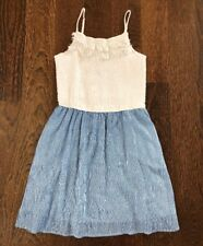 VGUC Abercrombie Kids Blue Seersucker Tank Dress 11/12